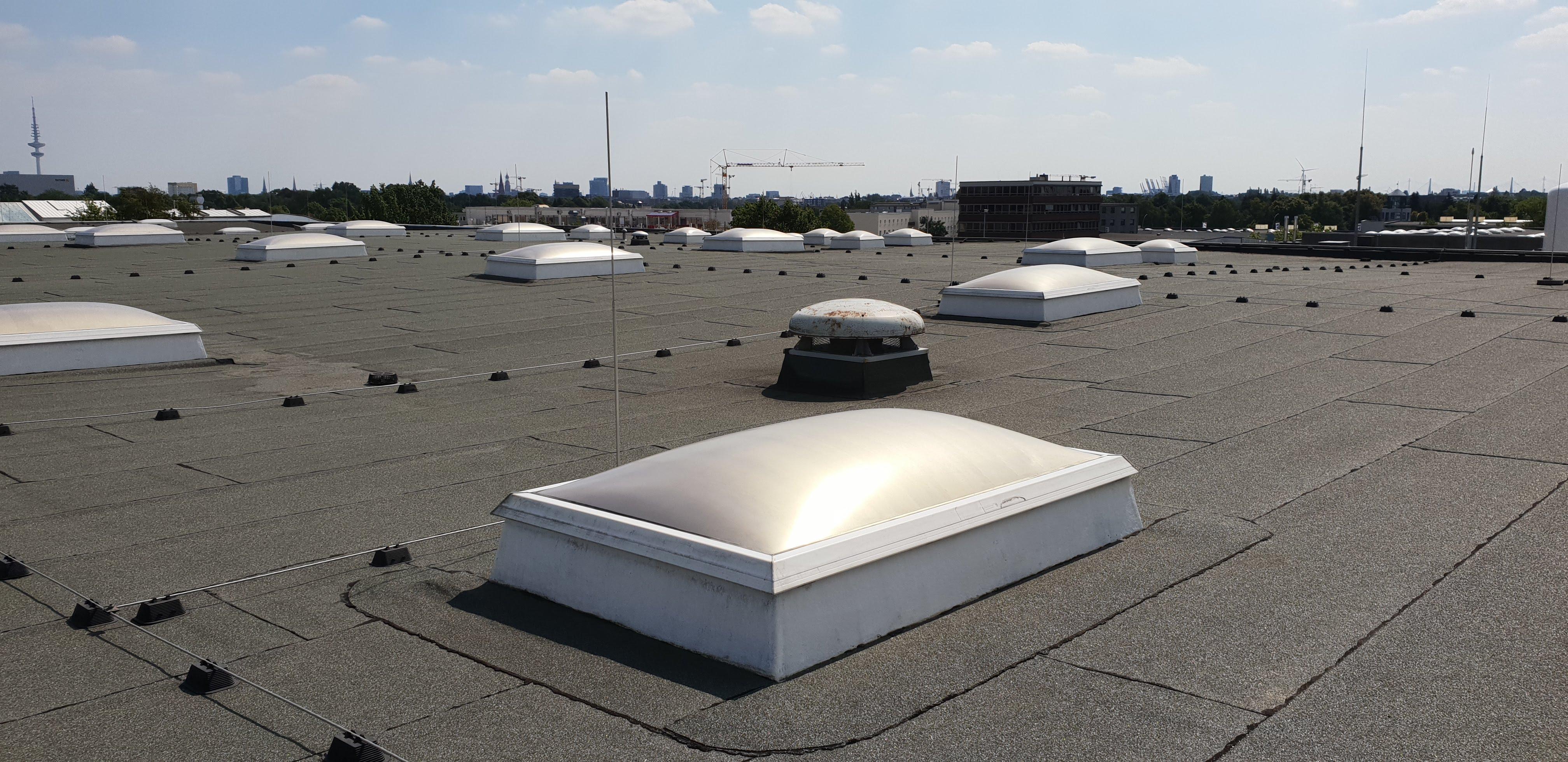 Lichtkuppeln - mit Sonnenschutzlack