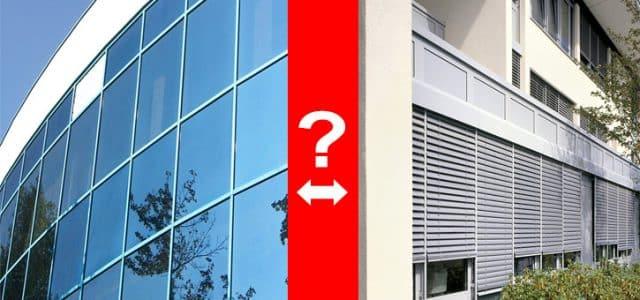 Fensterfolie oder Beschatungsanlage