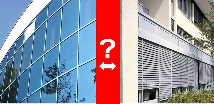 Fensterfolie vs. Außenbeschattungssysteme
